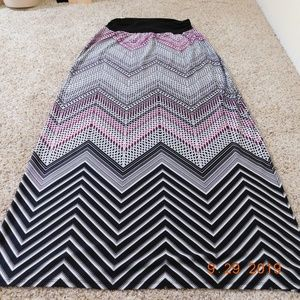 AB Studio maxi skirt XL black, white, purple